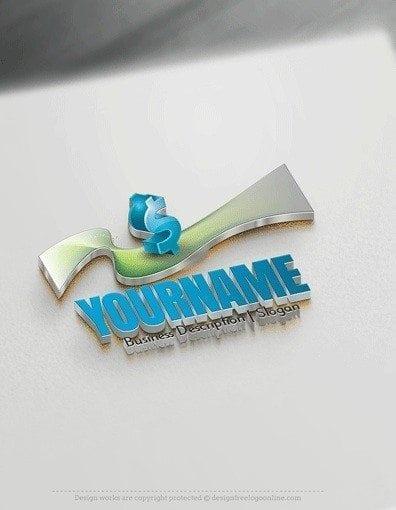 Design Free Logo: Finance Dollar Sign Logo Template