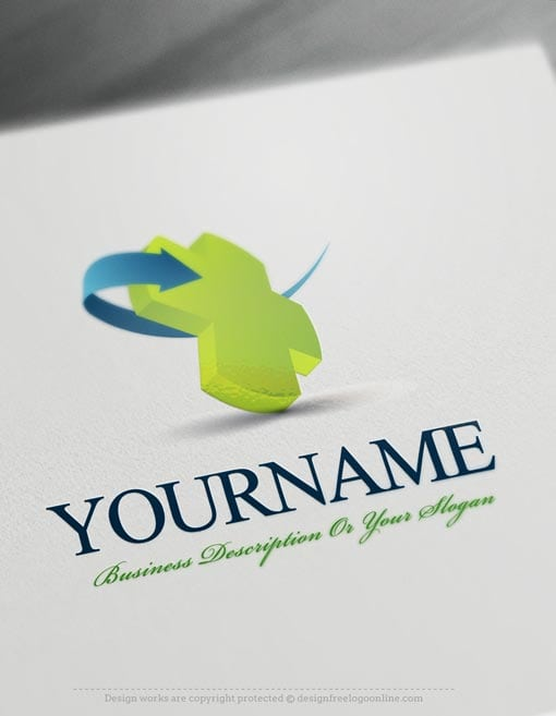 3D-Medical-Online-Logo-Template