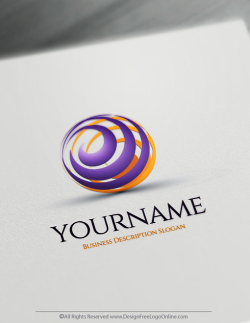 Spiral Logos made simple online with 3D logo maker