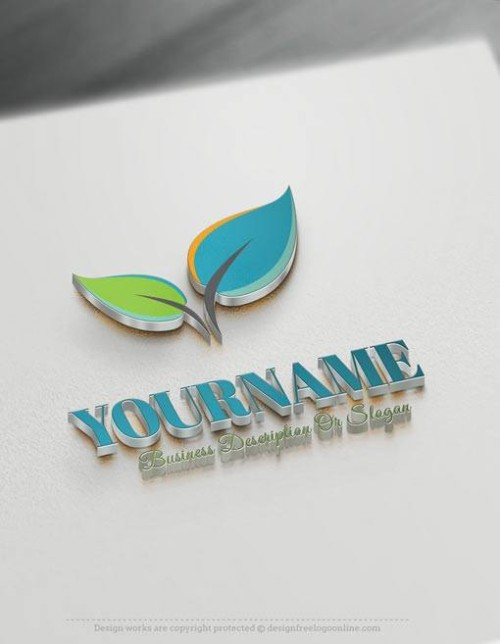 Colorful-Leaves-Online-Logo-Template