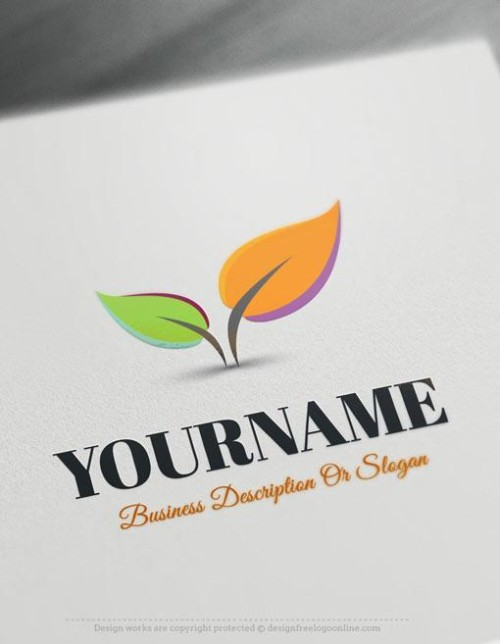 Colorful-Leaves-Online-Logo-Templates