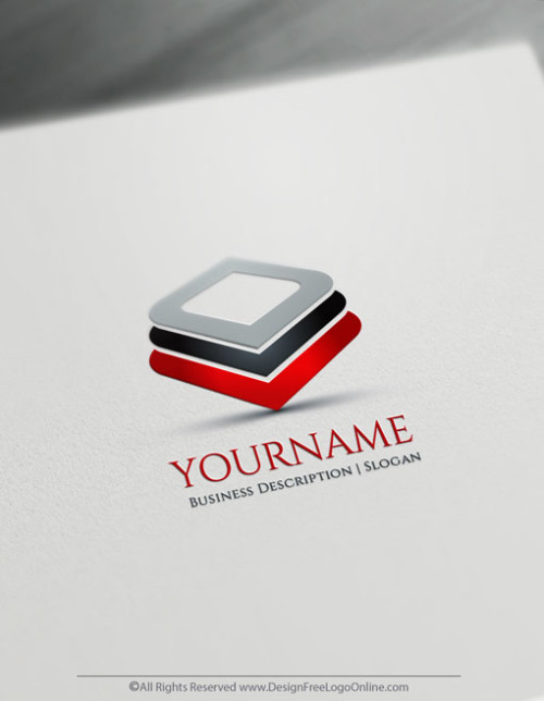 Create Your Own 3D Squares Logo.