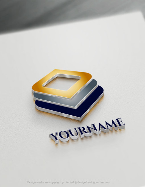 Free 3D Logo Maker - Online Layered Squares Logo Design