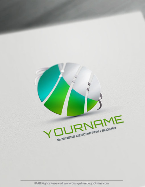 Create Your Own Green Logo with Abstract Globe Logo Templates