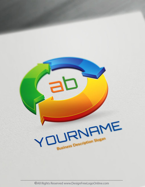 Create your own 3D Arrows logo online using the 3d logo maker