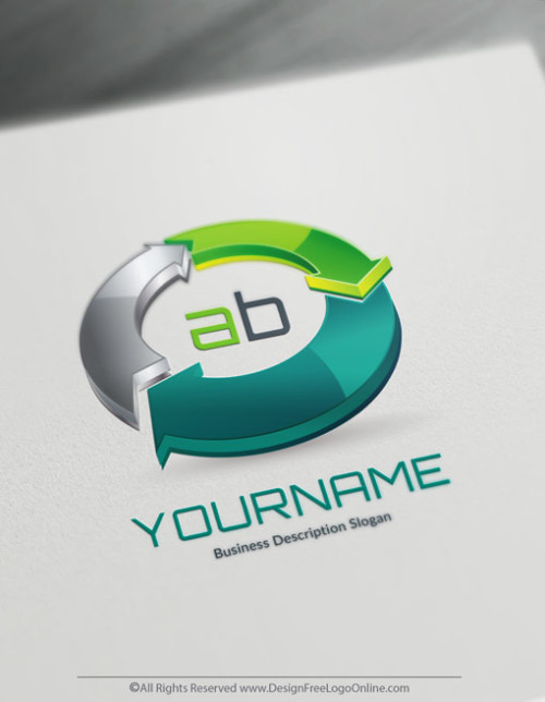 Create your own ECO logo online using the 3d logo maker