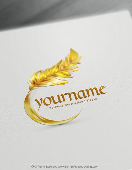 Modern Gold Feather logos