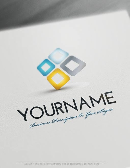 Design Free Logo 3d Company Online Logo Template