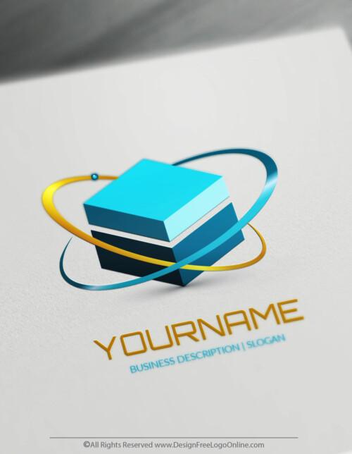 Design Free 3D Logo - 3D Cube Molecule Logo Template