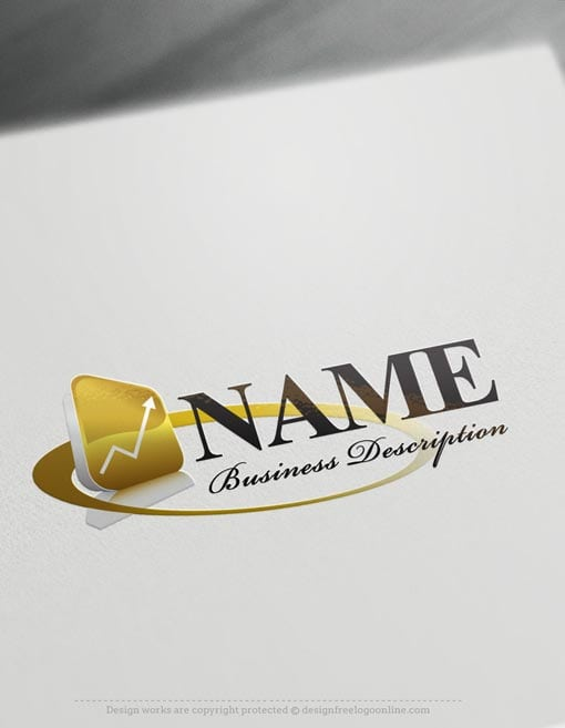 Design your own free accounting finance logos online for Draw my own logo