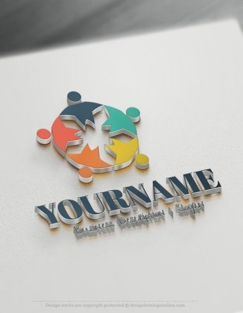 Design-Free-Human-Group-Logo-Template