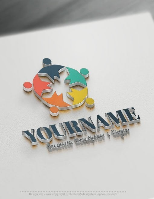 Design-Free-Human-Group-Logo-Template