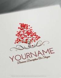 Design-Free-Love-Tree-of-hearts-Logo-Template