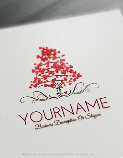 Design-Free-Love-Tree-of-hearts-Logo-Template