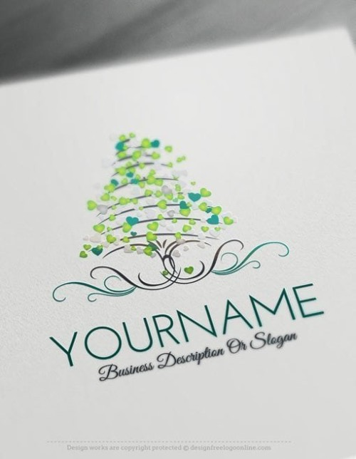 Design-Free-Love-Tree-of-hearts-Logo-Templates