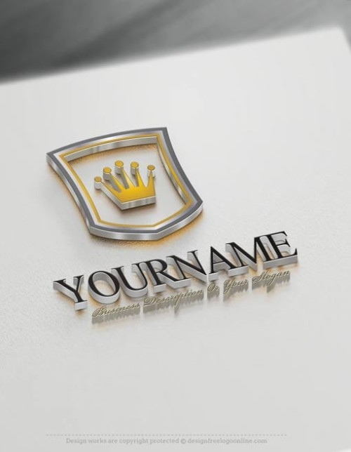 Online Crown Logo Template