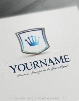 Create a logo Free - Crest Crown Logo Templates