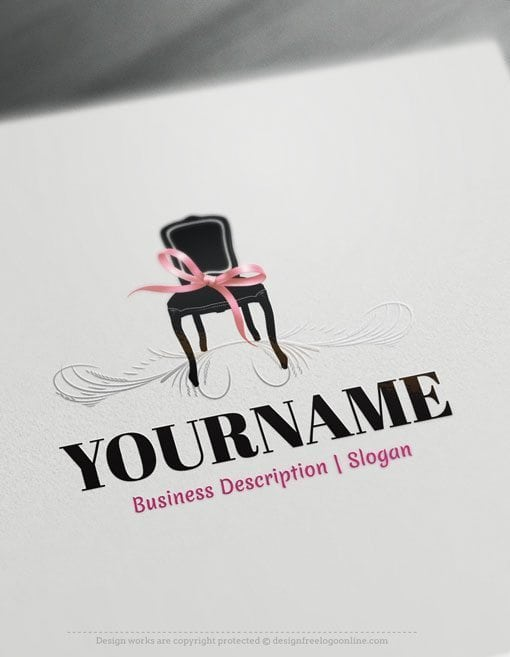 Design Free Logo: Online Interior decor Logo Template