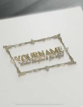 Design-Free-Online-Vintage-clean-frame-Logo-Template