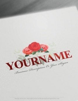Design-Free-Roses-Logo-Template-online