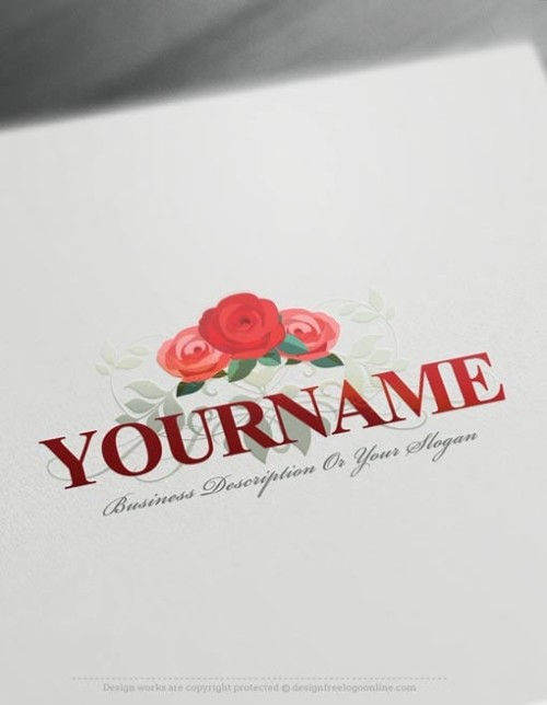 Design-Free-Roses-Logo-Template-online
