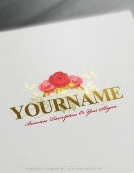 Design-Free-Roses-Logo-Templates-online