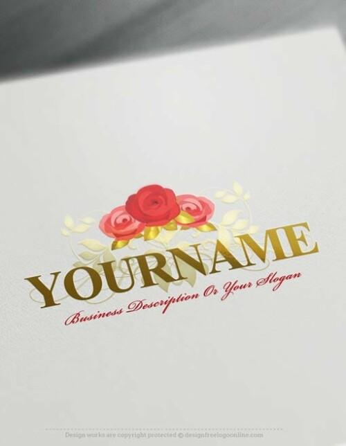 Design-Free-Roses-Logo-Templates-online