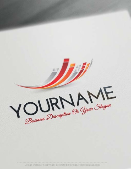 Design-Free-online-Abstract-Lines-Logo-TemplateS