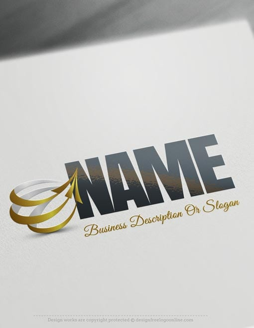 Design-Free-online-Arrows-company-Logo-Template