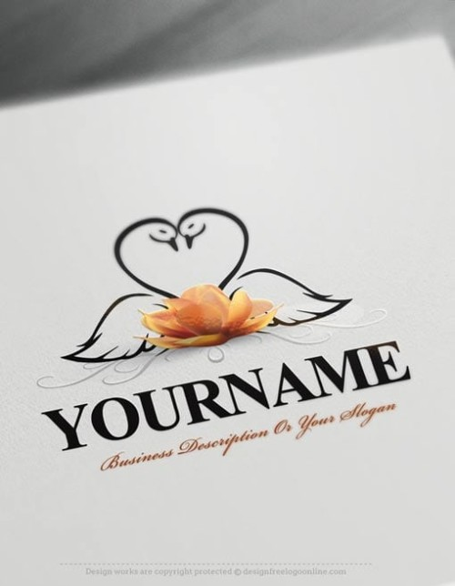 Design your own Swans logo online using free logo design templates