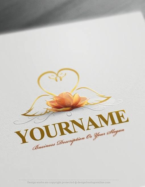 Design-Free-swans-Logo-Template-online