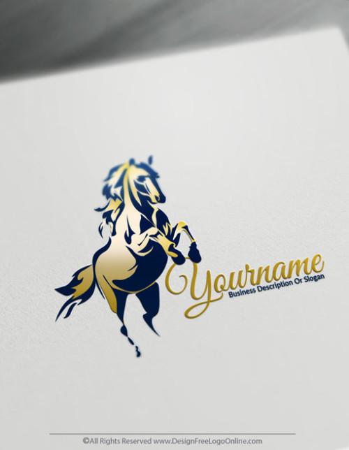 Design Your Own Horse Racing Logo