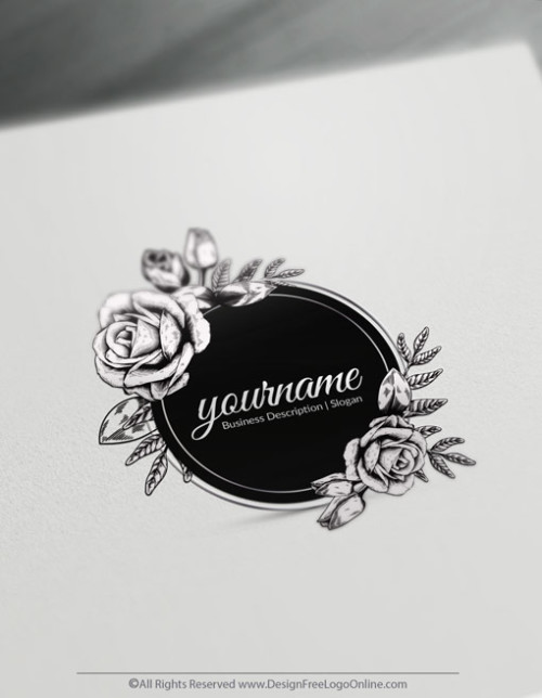 Design Your Own Rose logo ideas with Vintage Logo Maker.