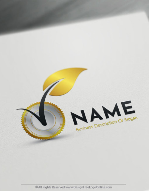 Design Your Own Eco Industry Logos. Gold Leaf logo templates