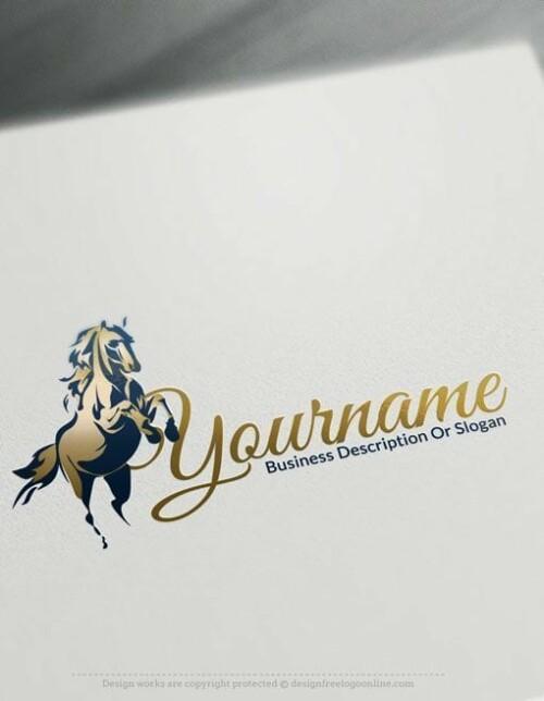 Horse-racing-free-logo-design-online