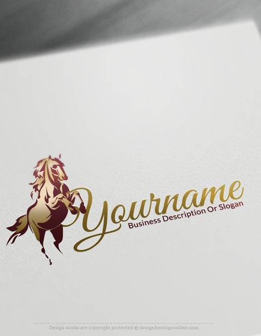 Design Free Logo: Horse racing online Logo Template