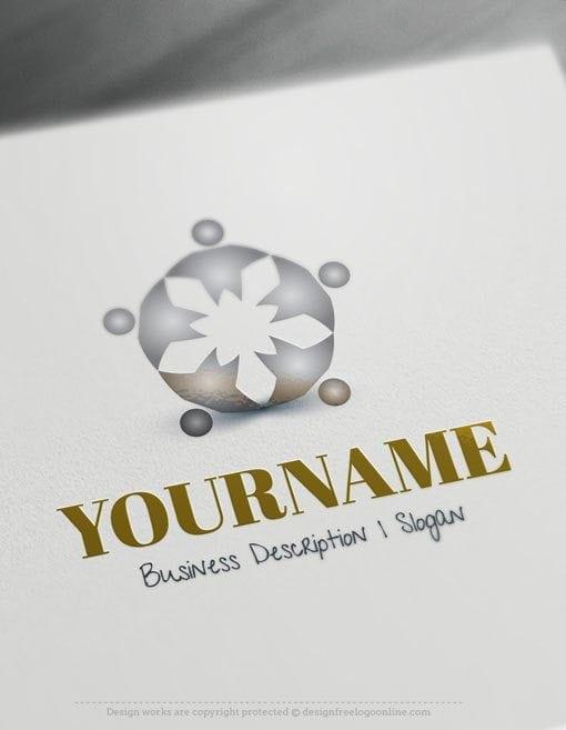 Human-Group-Jump-Logo-Template
