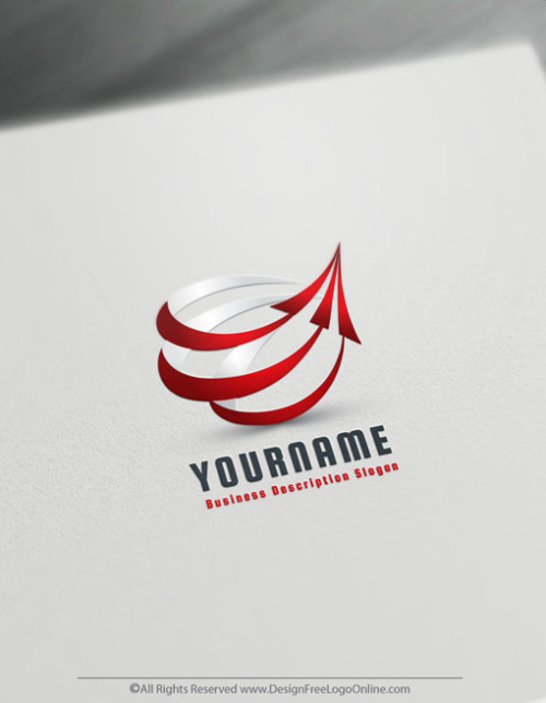 Online 3D Arrow Logo Template - Free Company Logo Maker