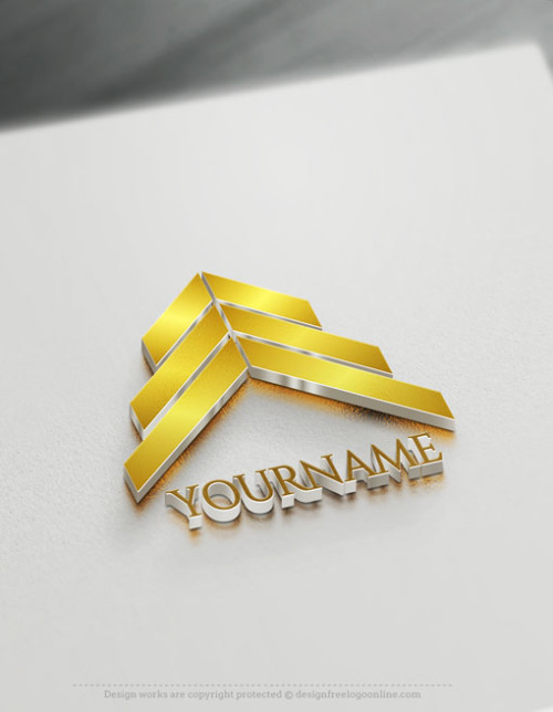 Online Gold Arrows Logo Design Template - Free Business Logo Maker
