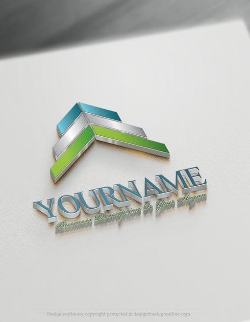 Online-Arrows-up-Logo-templates