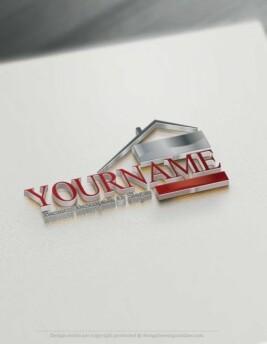 Design Free Logo Online Real Estate house logo design.