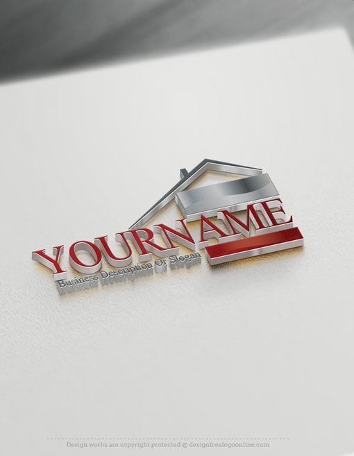 Design Free Logo Online Real Estate house logo design.