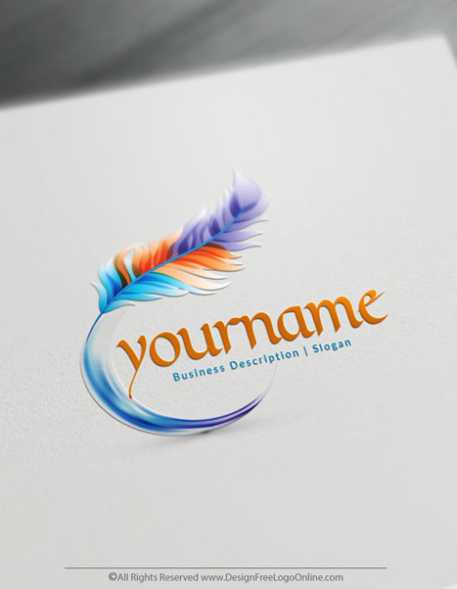 Create your own colorful Feather logo