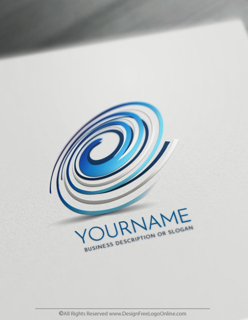 Create Art Spiral Logo Design Online Using The Logo Maker