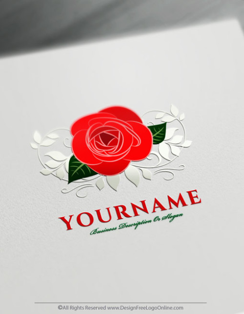 instantly use the online vintage logo maker to customize your own Red Rose logo