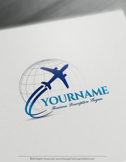 Design Your Own Airplane Logo Online Travel Logos