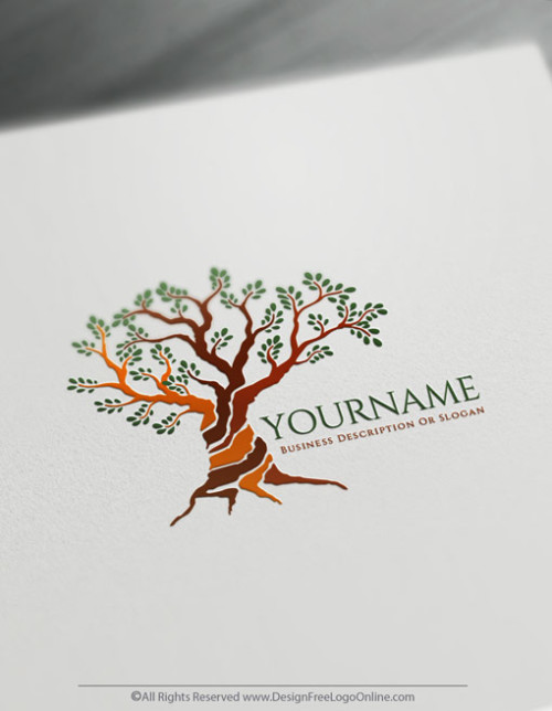 Olive tree logo maker for free