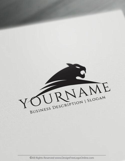 Be your own Black jaguar logo designer for free