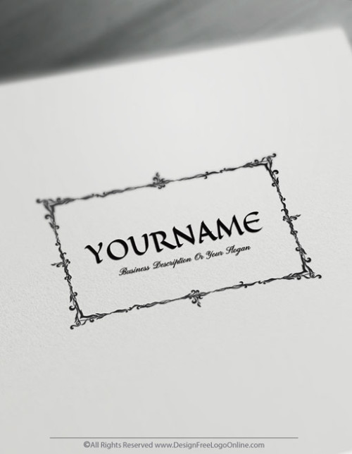 Vintage Logo Maker - Design your own Retro Frame Logo Template