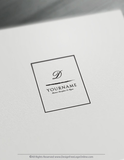 Simple Square Logo Design Template - Free Letter Logo Maker